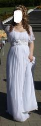 Свадебное платье в греческом стиле,  белого цвета,  из салона.