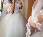 шикарное очень красивое свадебное платье