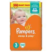 Продам одноразовые подгузники Pampers sleep & play 3